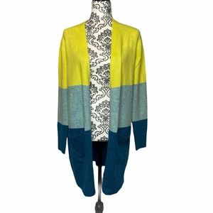 A New Day Long Color Block Style Cardigan. NWT